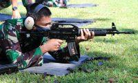 Tingkatkan Profesionalisme Prajurit, Lanud SPR Gelar Lomba Menembak