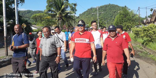 Bupati Tonny Jalan Santai Bersama Anggota DPRD