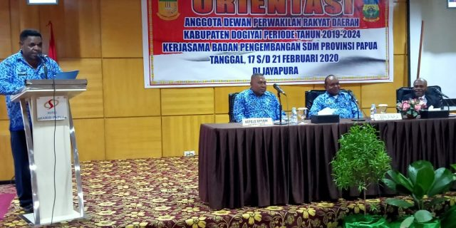 25 Anggota DPRD Dogiyai Ikuti Orientasi
