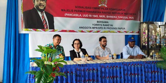 Yorris Sosialisasi 4 Pilar Kebangsaan MPR – RI di Yapen