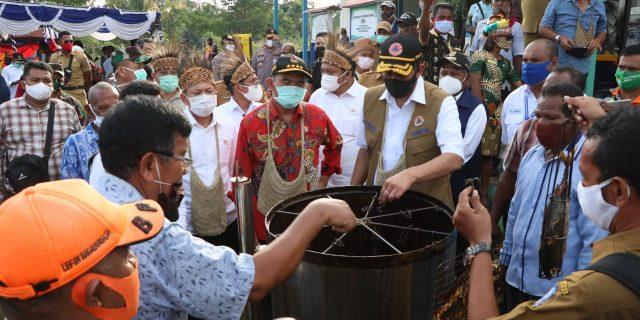 Danlanud SPR Sambut Menko PMK di Jayapura