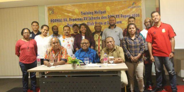 PON XX,  Jurnalis Olahraga Kota Jayapura Berdiskusi