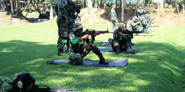 Kemampuan Menembak Prajurit Lanud Silas Papare, Jayapura Kembali Diasah