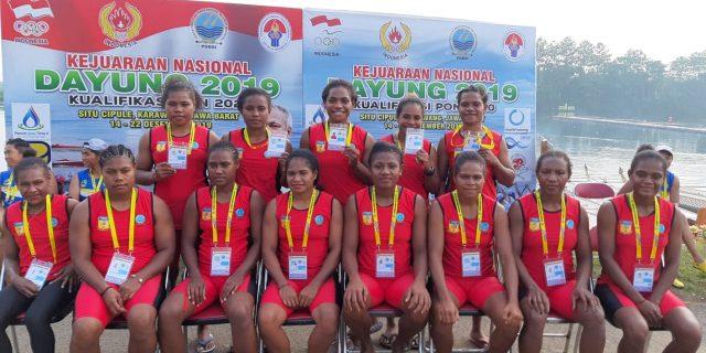 PON XX, Tim Dayung Papua Peringkat 2 di Kejurnas
