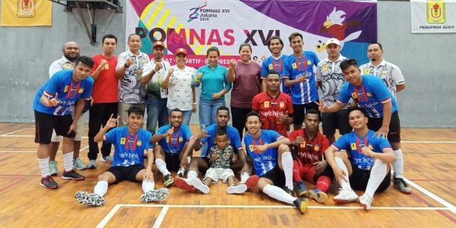 Tim Futsal Papua Harus Puas Meraih Perunggu