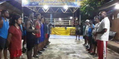 Atlet Tinju PON Papua Asah Teknik